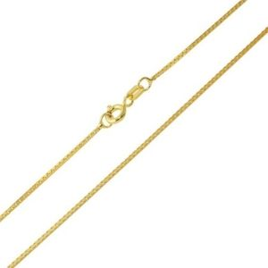 Sterling Silver 925 Gold Plated Box DC Chain 1.0mm